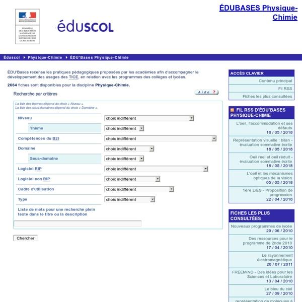 EDU'bases physique-chimie