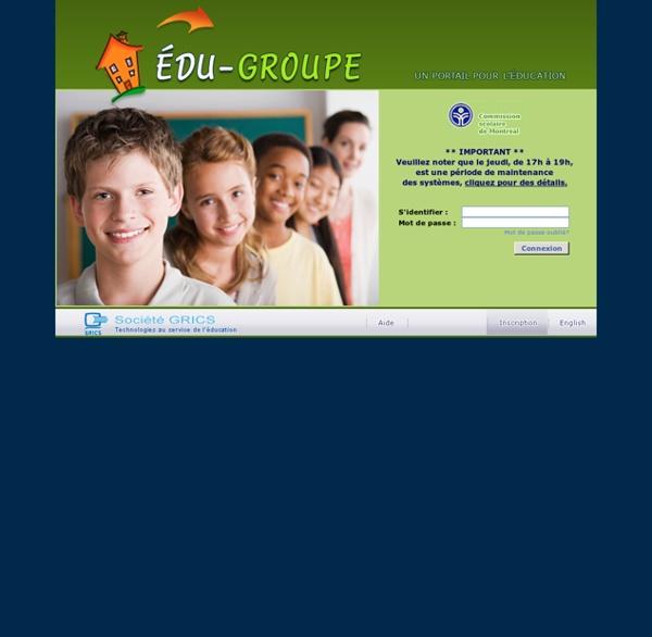 Édu-groupe - Accueil