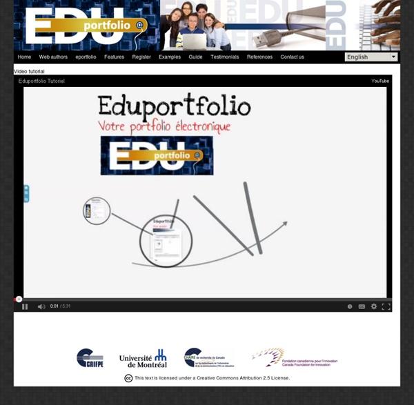 Edu-portfolio.org : Votre portfolio électronique