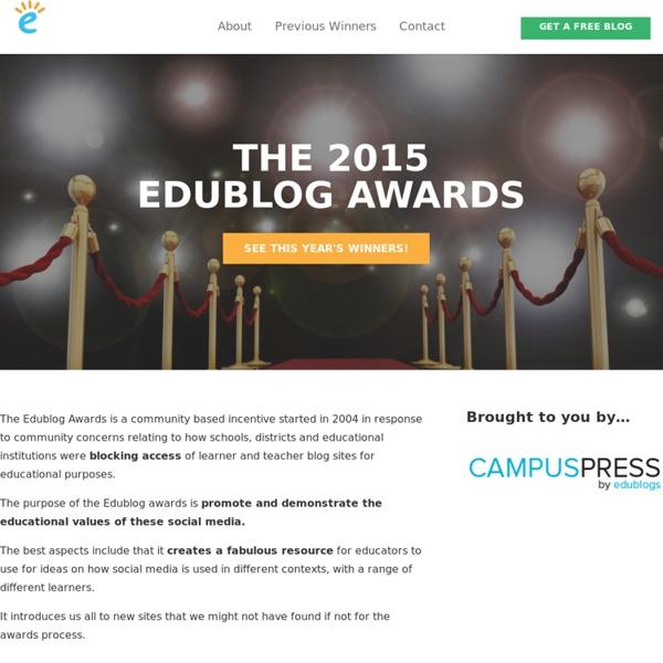 The Edublog Awards - Celebrating the best of the web in education