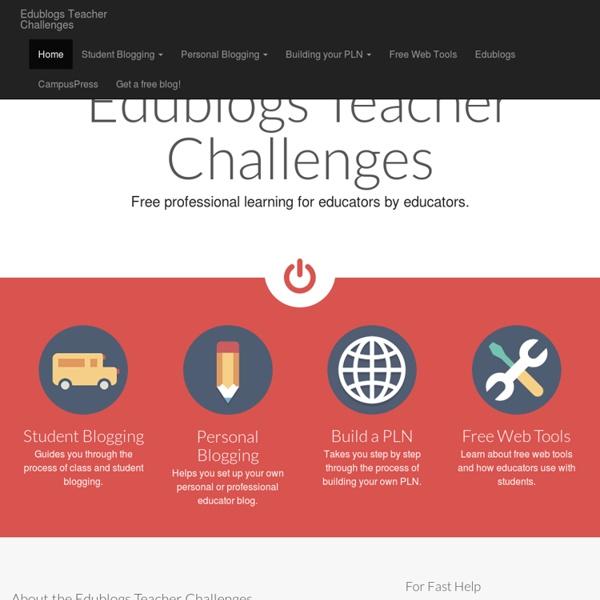Edublogs Teacher Challenges
