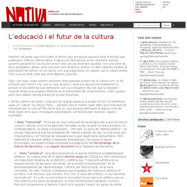L'educació i el futur de la cultura