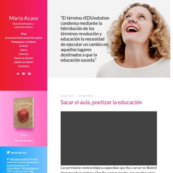 María Acaso - Educación disruptiva + educación artística