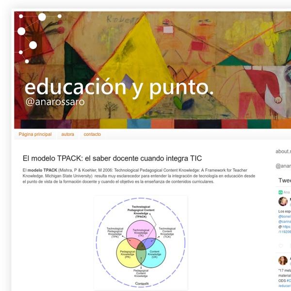 El modelo TPACK: el saber docente cuando integra TIC