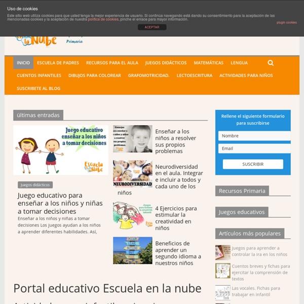 Escuela en la nube - Portal de educación infantil y primaria
