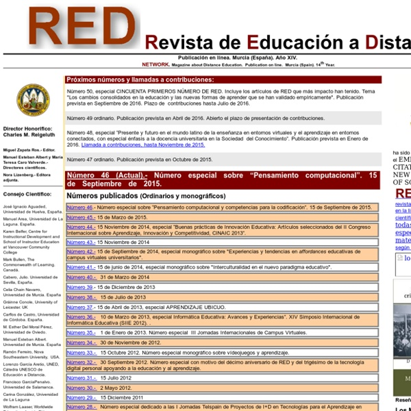RED. Revista de Educación a Distancia (WoS)