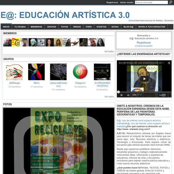 E@: Educación artística 3.0 - Red de artistas-docentes