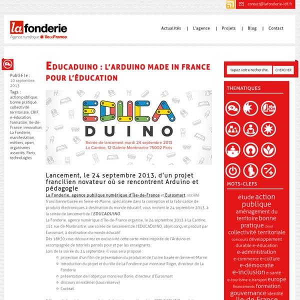 EDUCADUINO : L'Arduino made in France pour l'éducation