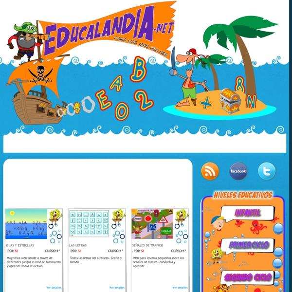 EDUCALANDIA.NET Recursos y enlaces educativos para alumnos de primaria, profesores y padres. Educacion infantil y primaria
