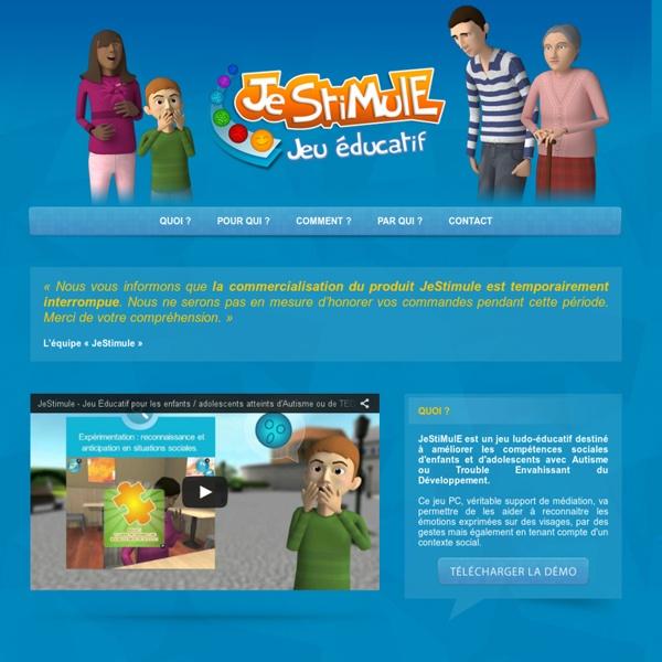 Je Stimule - jeu éducatif destiné à améliorer les compétences sociales d'enfants Autiste