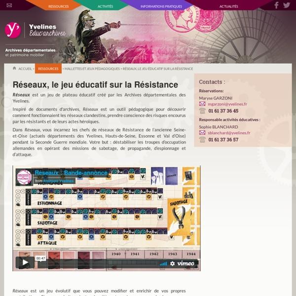 Réseaux, le jeu éducatif sur la Résistance - Educ'Archives