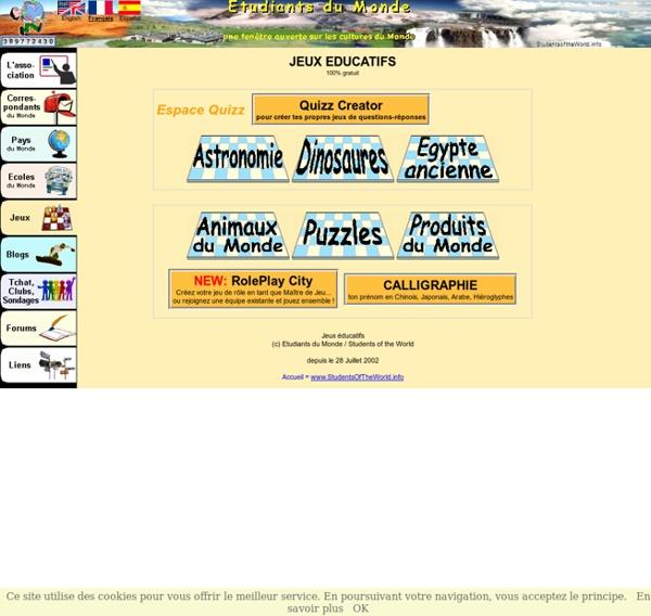 Jeux ducatifs pour enfants & ados - Etudiants du Monde