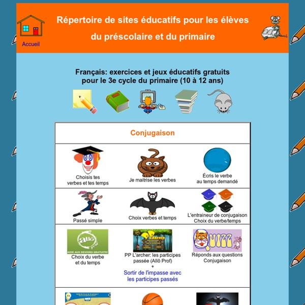 Sites éducatifs Français 3e cycle du primaire