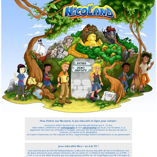Jeux éducatifs Nicoland: le site des enfants de 6 à 12 ans !
