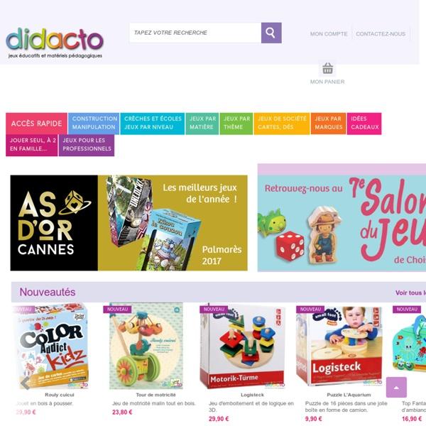 Jeux éducatifs et matériels pédagogiques - DIDACTO