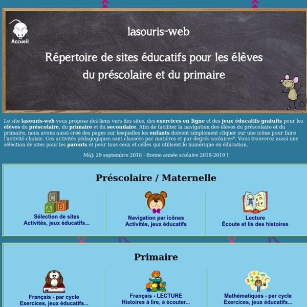 La souris-web - répertoire de sites éducatifs