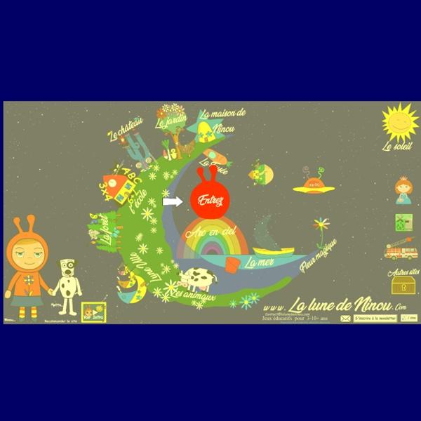 La Lune de Ninou. Jeux pour petits. Jeux éducatifs pour enfants de primaire et maternelle.