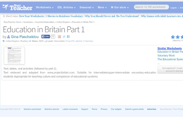 Education in Britain Part 1
