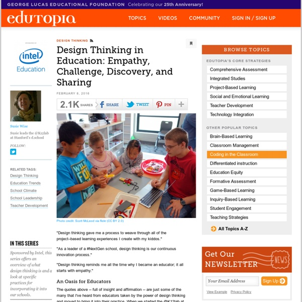 Design Thinking in Education: Empathy, Challenge, Discovery, and Sharing