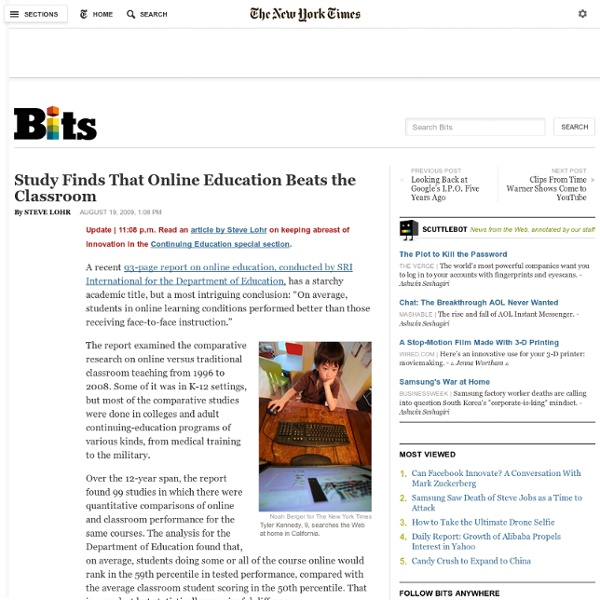 Study Finds That Online Education Beats the Classroom - Bits Blo