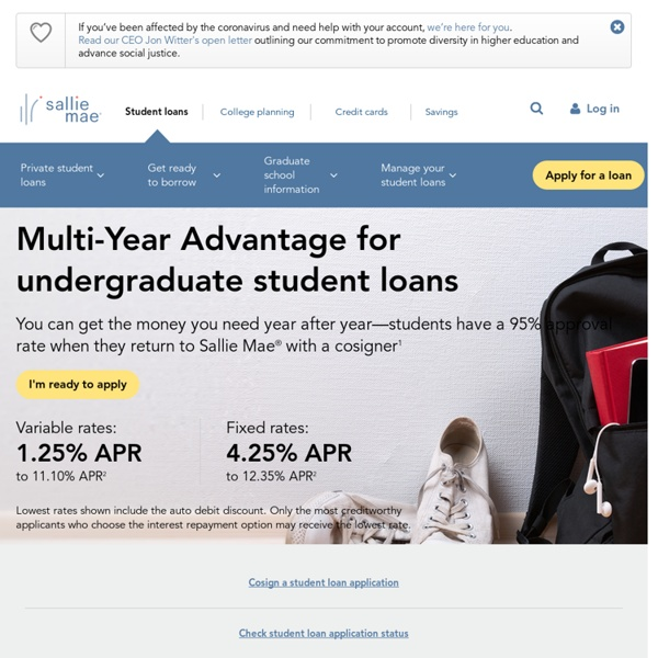 Student Loans - Banking, Insurance & 529 Plans - Sallie Mae