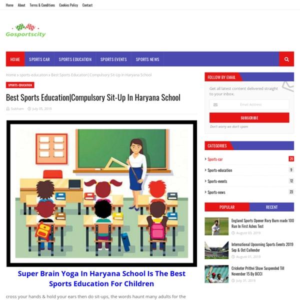 Compulsory Sit-Up In Haryana School
