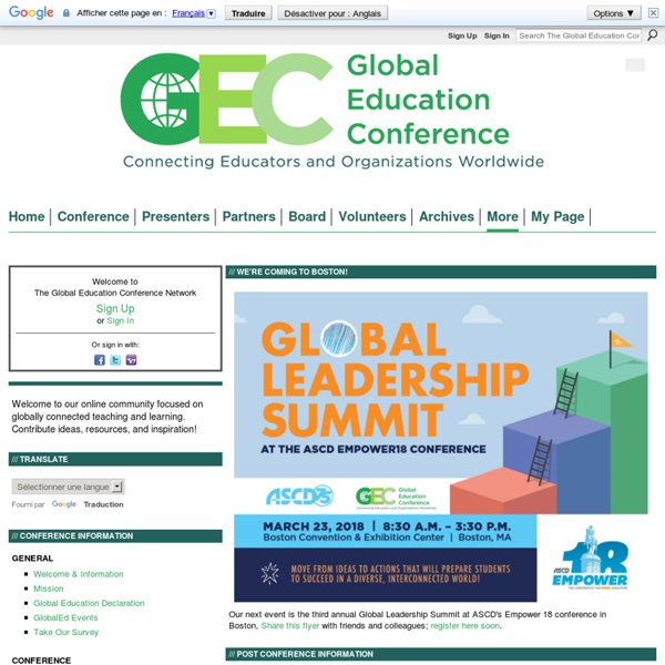 The Global Education Conference Network - GlobalEdCon: Connecting Educators and Organizations Worldwide