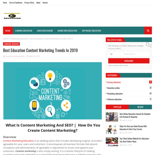 Best Education Content Marketing Trends In 2019