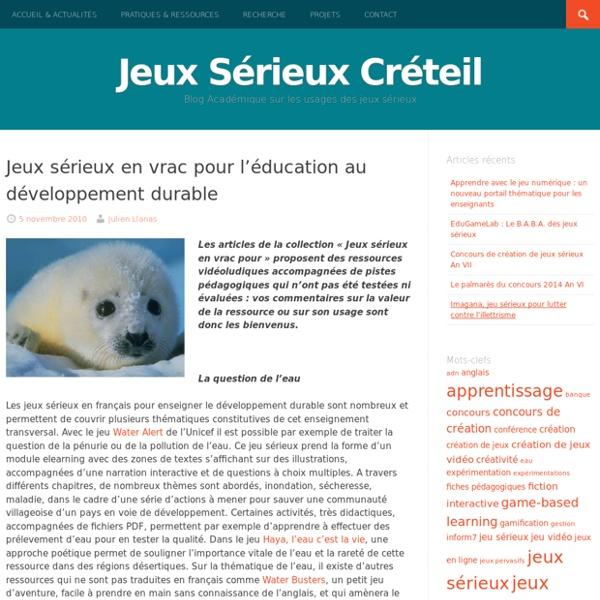 Jeux sérieux en vrac pour l'éducation au développement durable