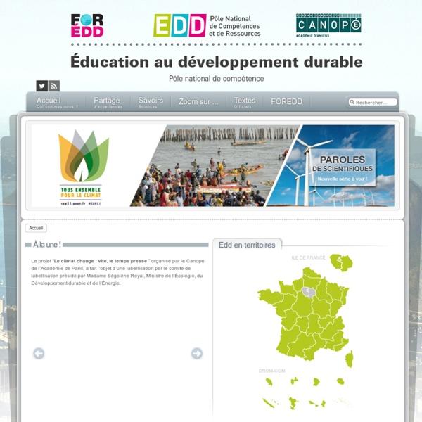 Éducation au développement durable - Accueil