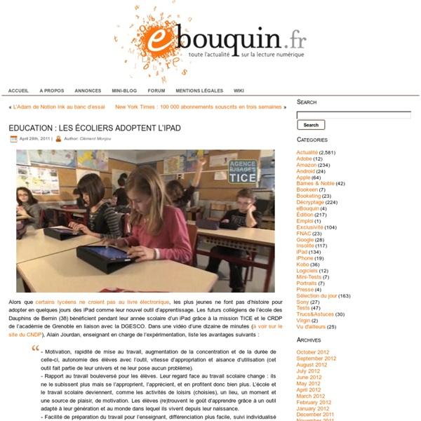 Education : les écoliers adoptent l'iPad