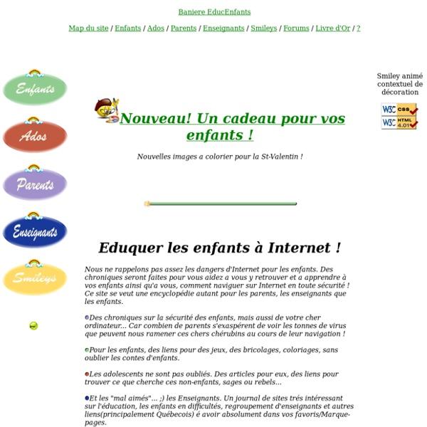 Education des enfants Parents Enseignants pour internet