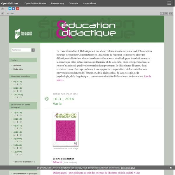 Éducation et didactique