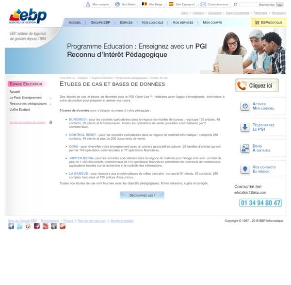 Espace Education EBP - L'Offre Etudiant de logiciels en version Education