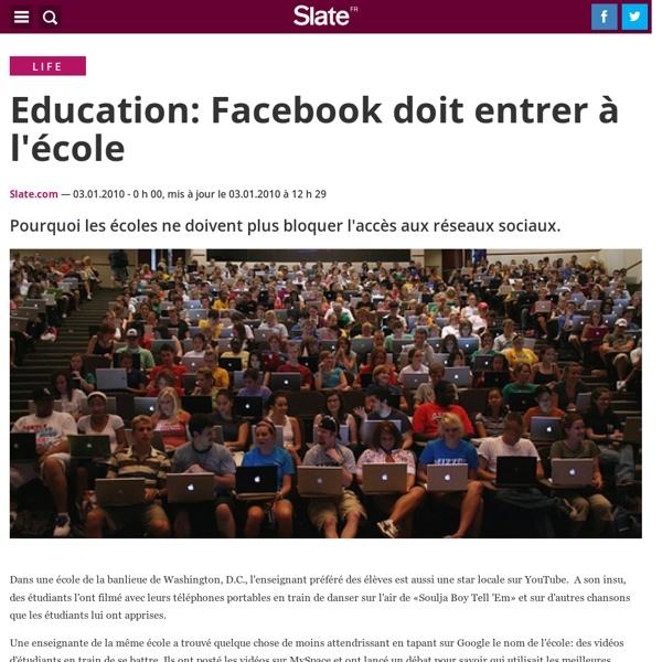Education: Facebook doit entrer à l'école
