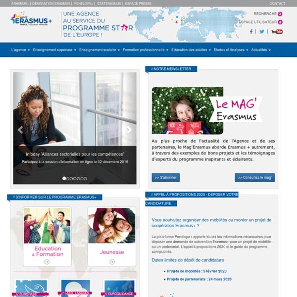 Agence Erasmus+ France / Education Formation - Programmes européens d'éducation et de formation