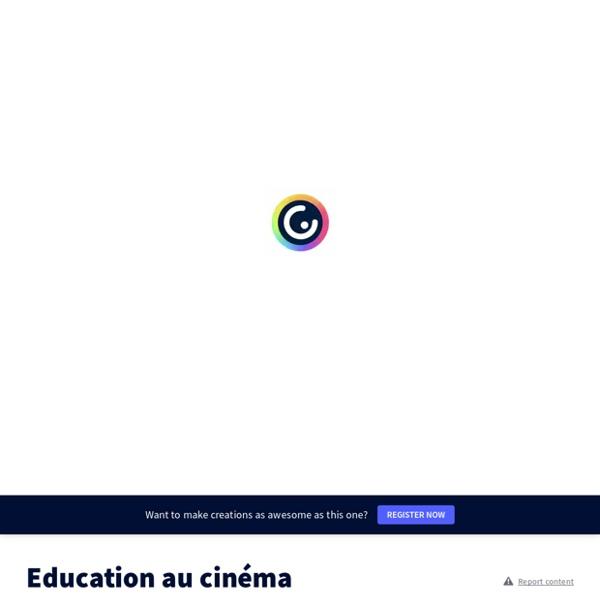 Education au cinéma by François Cellier on Genially
