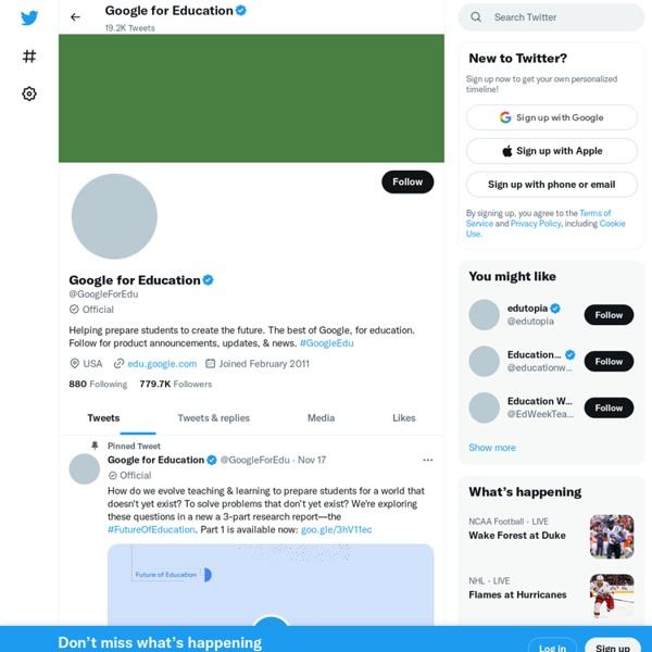 Google For Education (GoogleForEdu)