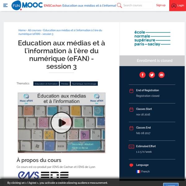 FUN - Education aux médias et à l'information à l'ère du numérique (eFAN)