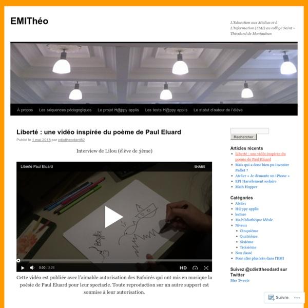 L'Education aux Médias et à L'Information (EMI) au collège Saint – Théodard de Montauban
