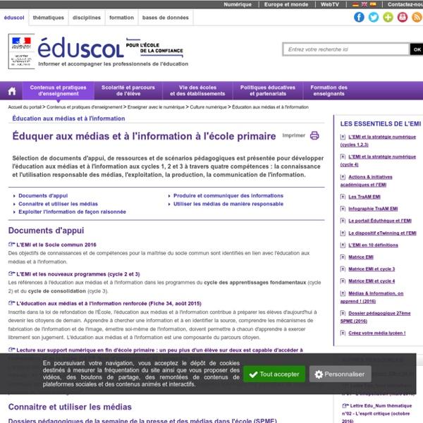 Éducation aux médias et à l'information - Éduquer aux médias et à l'information à l'école primaire