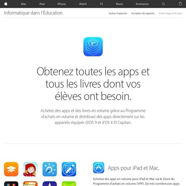 iPad dans l'Éducation - IT - Programme d'achats en volume
