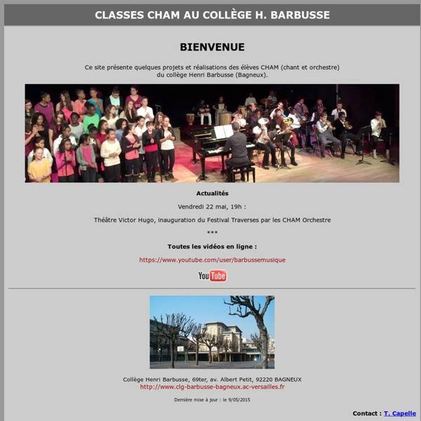 Education musicale au collège Henri Barbusse (92220)