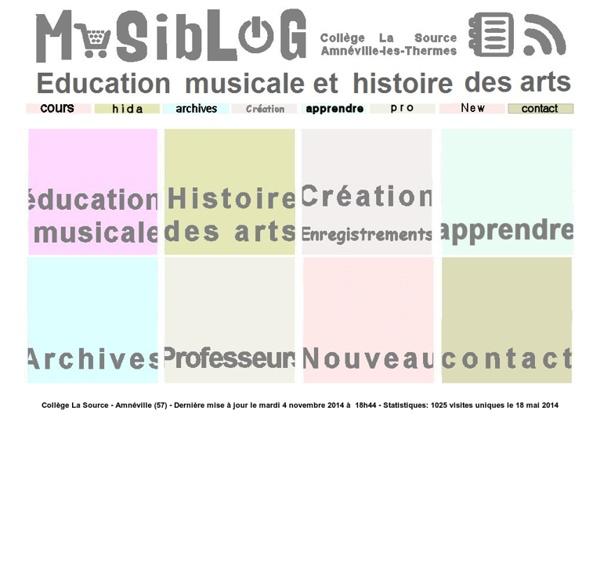 Education musicale et histoire des arts au collège
