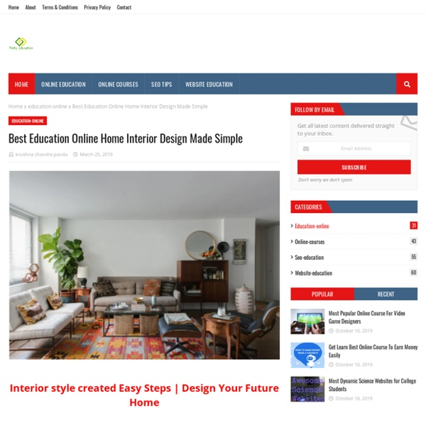 Best Education Online Home Interior Design Made Simple Pearltrees