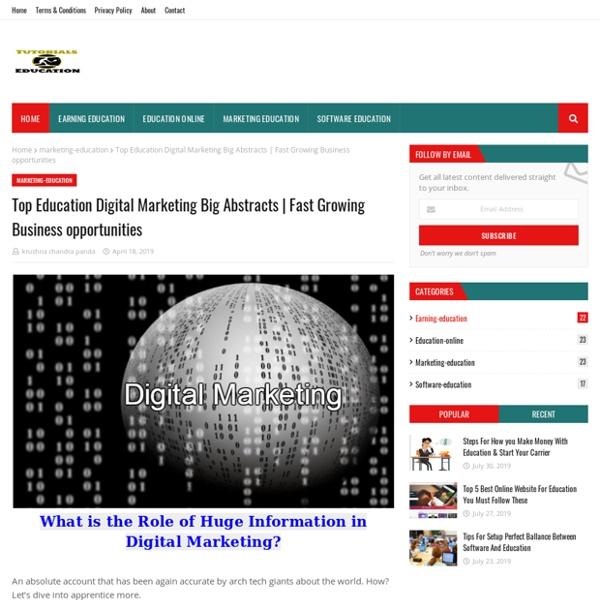 Top Education Digital Marketing Big Abstracts
