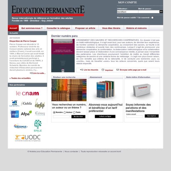 Education Permanente : Accueil