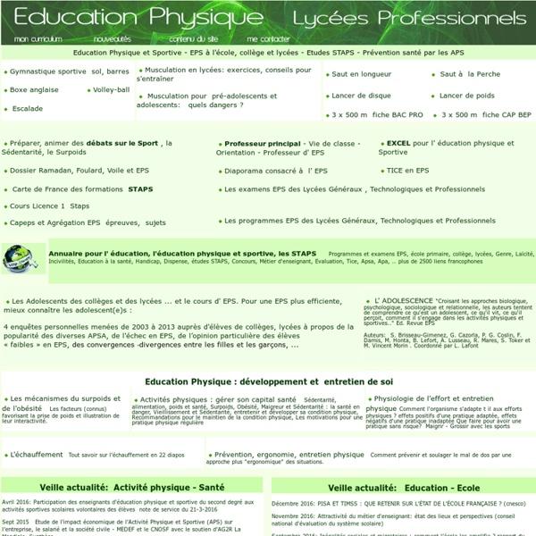 Education Physique et Sportive musculation,gymnastique,escalade,staps