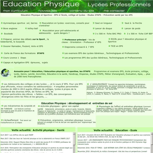 Education Physique et Sportive: étudier et enseigner l' EPS