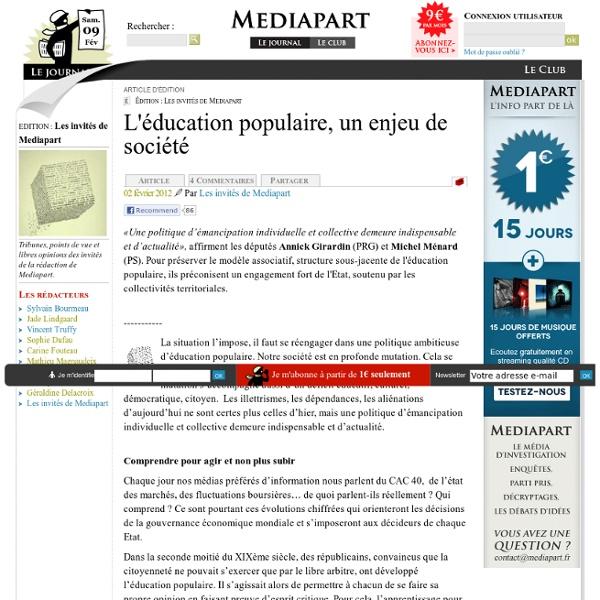 L'éducation populaire, un enjeu de société